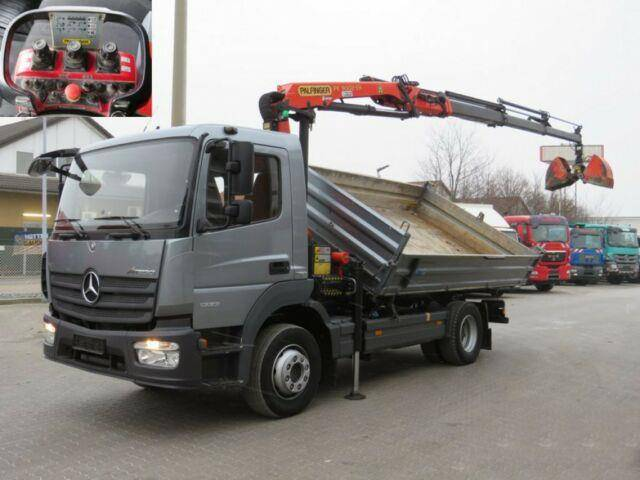 Mercedes-Benz Atego 1223 K 2 Achs Kipper Kran Funk+greiferst - 2015