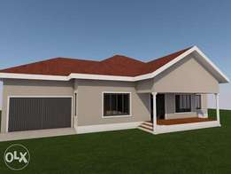 Three Bedroom House Plan with a garage