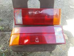 Bmw E30 Rear Lights Chrome bumper ex uk