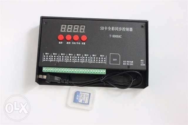 T-8000AC 220-240V SD Card Pixel Controller for WS2801 WS2811 LPD8806 M