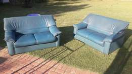 2 X Double pleather couches