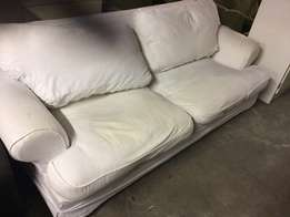White coricraft couch