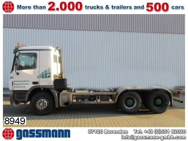 mercedes-benz actros 2636k 6x4 chassis - 2004