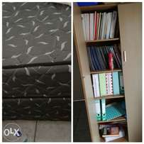 Double bed & Enclosed book shelf for sale Polokwane
