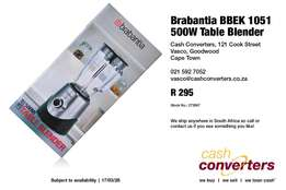 Brabantia BBEK 1051 Table Blender 500W