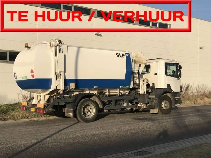 Scania VERHUUR VUILNISWAGENS Haller opbouw zijbelading 18m3 en 22m3 - 2003