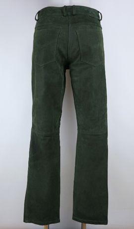 Perforce skórzane spodnie myśliwskie łowieckie ML pas 2 x