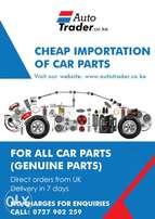 Cheap importation of car parts from UK.