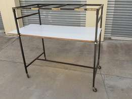 Fully Collapsible 4 wheeled clothing trolley Perfect as market trader