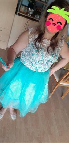 619cd60e5c Sukienka 44 46 turkusowo-biała tiulowa z koronką Pruszków - image 2