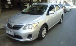 2011 model toyota professional corolla 1.6 sedan,white,84 000km,for sa