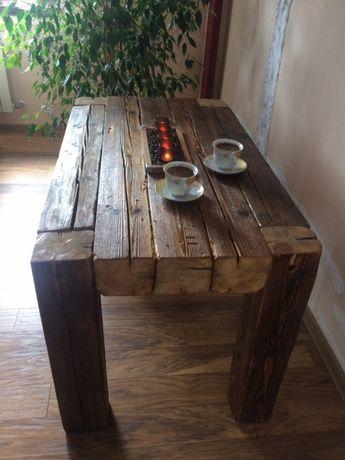 Stół Rustykalny Stolik Kawowy Z Bali Stare Drewno Prudnik Olxpl