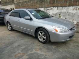 Sparkling clean Honda Accord 2003 model with factory DVD