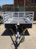 1.7m/4m/1m Double acle trailer for sale, Brand new Papers incl!