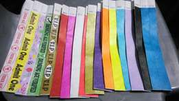 Water proof Tyvek Wrist bands plain for Identity
