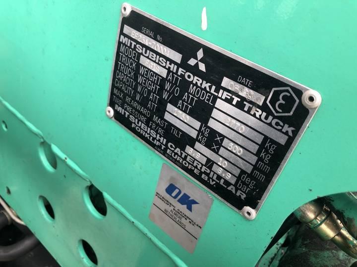 heftruck MITSUBISHI FG18 duplo300 sideshift 5750uur lpg - 1998 - image 8