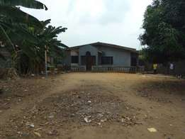 4 bedroom bungalow setback on a full plot of land close to the main