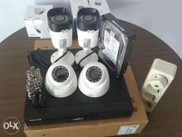 4 CCTV Cameras 720p Full HD Complete Package system