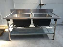 Sink Double Stainless Steel