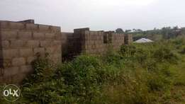 An Uncompleted 3-Bedroom Flat (En-Suite) almost at Lintel Level