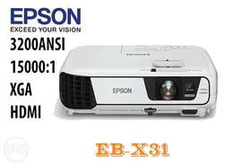 EPSON EB-X31,XGA 3200 ANSI Business Projector HDMI. Delivery available