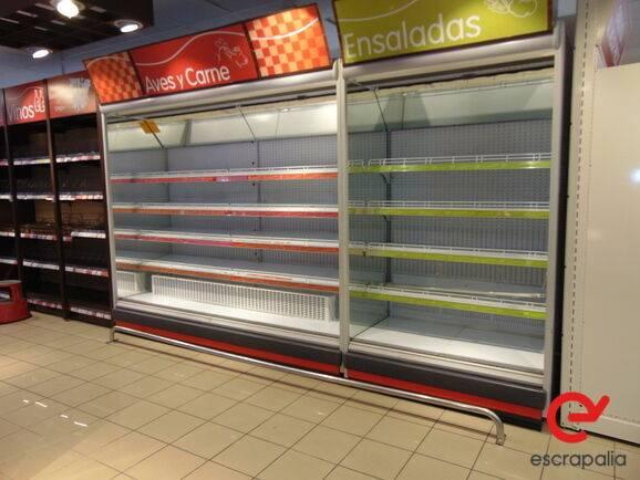 Sale lote arcones y murales de frío de supermercado warehouse
