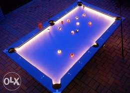 Snooker board with full lights