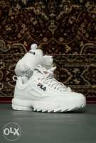 NEW FILA disruptor 2 white unisex sneakers