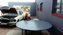 10 seater round wooden tables