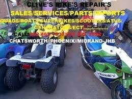 Quadbike Services From R350 At Clives Bikes SA