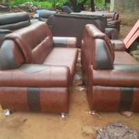 A complete set of leather sofa for sale