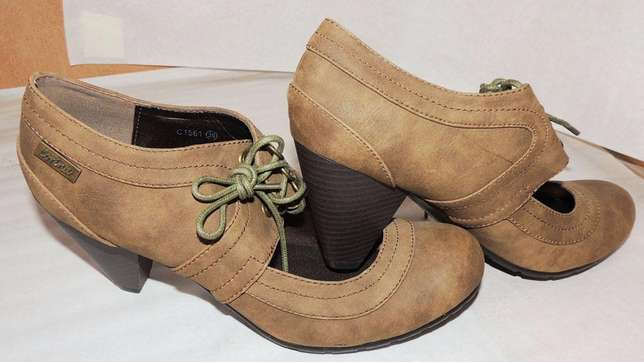 Brown, ankle boot with chunky heel (VJ Collections) Ruaka - image 3