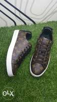 Brown Louis Vuitton sneaker