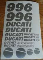 2001 Ducati 996 graphics decal set