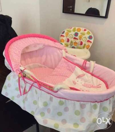 Baby moses basket in excellent condition