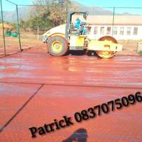 Tar surfacing and sports courts