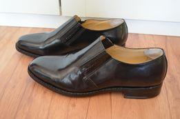 3120eeaf6e97b 45 46 pantofle lakierki półbuty Samuel Windsor ekskluzywne skóra natur