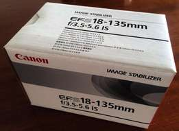 Canon EF-S 18-135mm IS Lens - Brand New in box