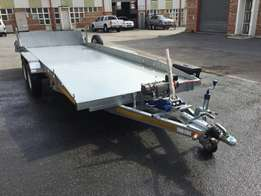 Aluminium flatbed car trailer