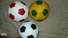 Coloured leather balls