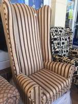 Extra tall wingback chair