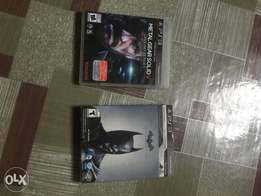 PS3 games CD metal gear solid 5, Batman, fifa 2014