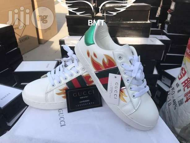 Gucci Ace Sneakers With Flames -Men Lagos Mainland - image 1