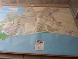Giant wall map of Cape Town Size 2.8metres X 2.1Metres 1:20000 scale