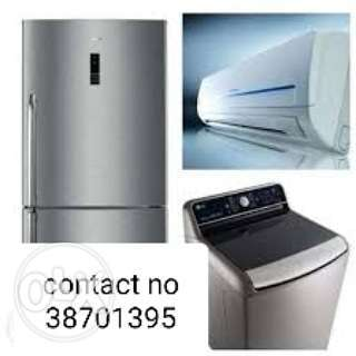 Washing machine aircondishner and Refrigerators maintenance quickly se