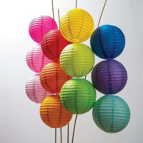 16 Inch Mixed Color Wedding Paper Lanterns Kileleshwa - image 3
