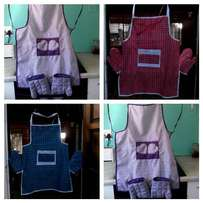 Aprons and oven glove sets