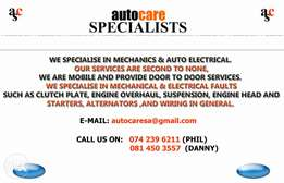Mobile Auto Electrician and Motor Mechanics