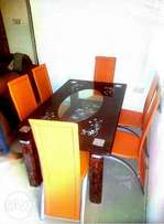 Imported glass dining table