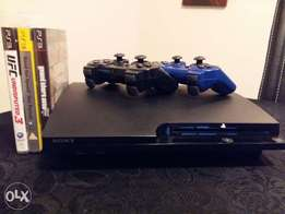 Sony PS3 for sale + 2 Controllers + 3 Games